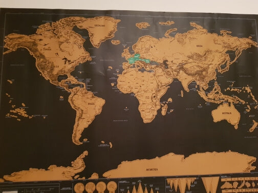 Buy scratch world map travel gift online india bigsmall drop in your photos at reviewsbigsmall to get featured gumiabroncs Choice Image
