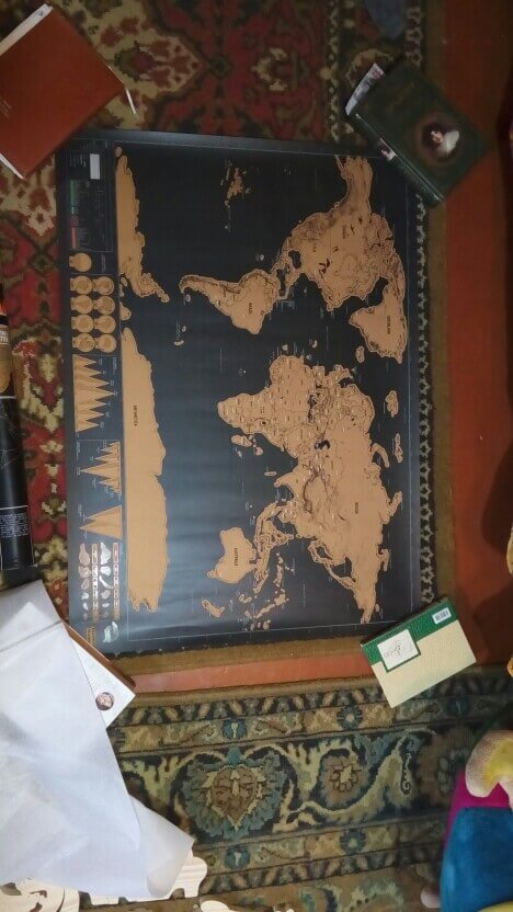 Buy Scratch World Map Travel Gift Online India Bigsmall In