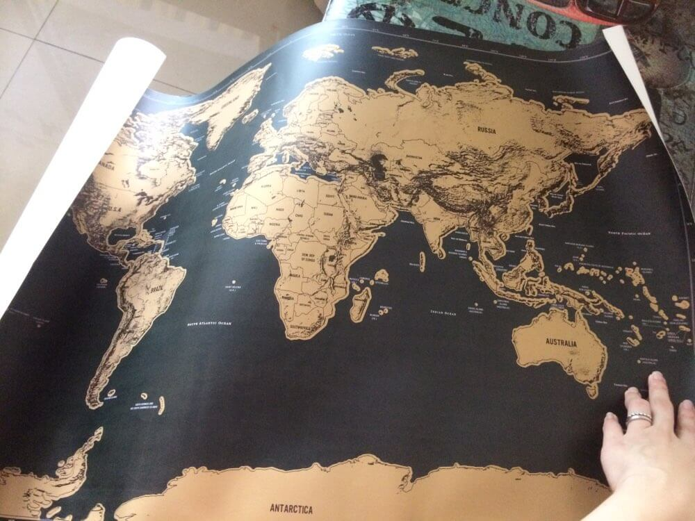 Buy scratch world map travel gift online india bigsmall drop in your photos at reviewsbigsmall to get featured gumiabroncs Gallery