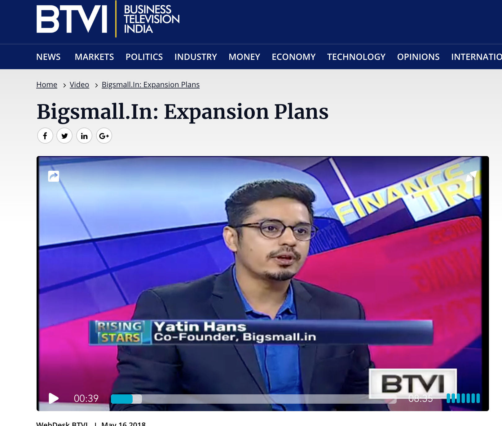 BTVI | Bigsmall.In: Expansion Plans