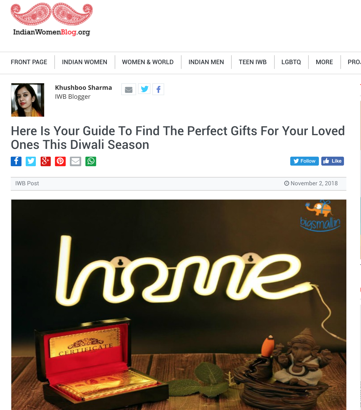 Indian Women Blog | Here Is Your Guide To Find The Perfect Gifts For Your Loved Ones This Diwali Season