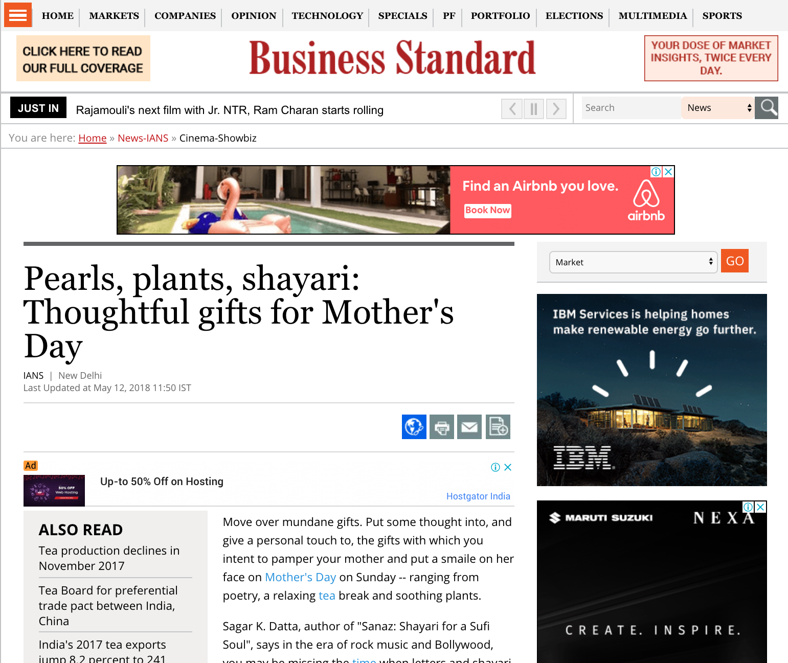 Business Standard | Pearls, plants, shayari: Thoughtful gifts for Mother's Day