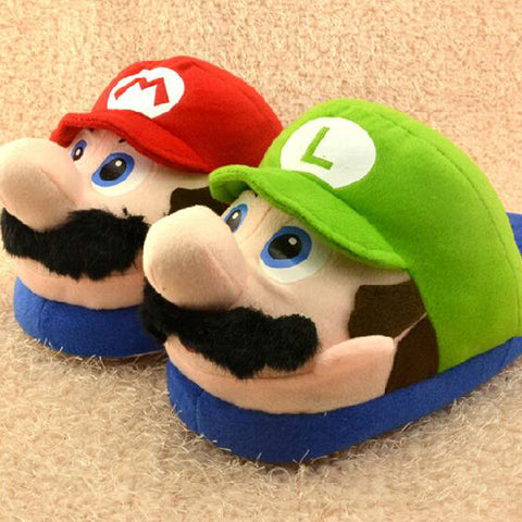 Super Mario Plush Slippers - bigsmall.in