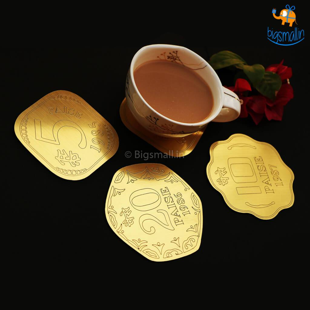 Paise Coasters - Set Of 4 - bigsmall.in
