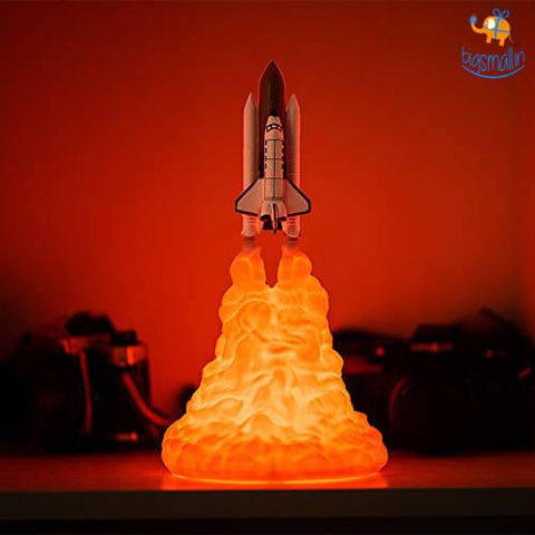 3D Printed Rocket Table Lamp