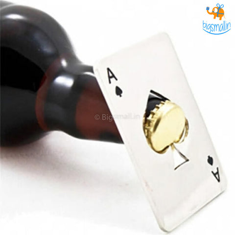 Ace Of Spades Bottle Opener - bigsmall.in