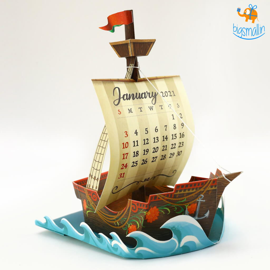 DIY Adventure Ship Desk Calendar