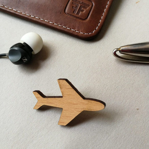 Travel Wooden Brooch
