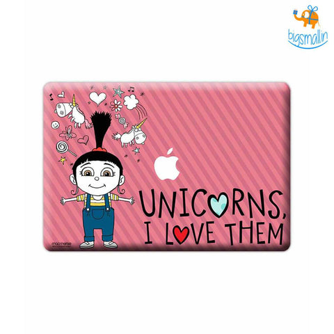 "Agnes Unicorn Love Decal MacBook Air 13"" - bigsmall.in"