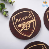 Arsenal Wooden Coasters - Set of 4