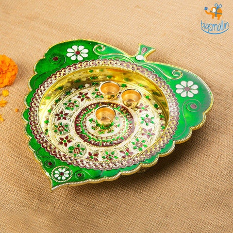Handcrafted Artisan Pooja Plate