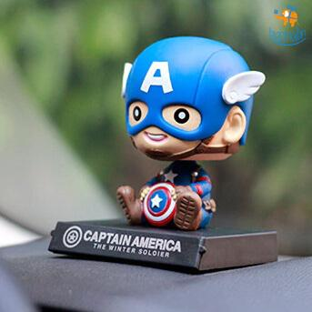 Baby Captain America Bobblehead - bigsmall.in