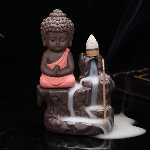 Back-flow Buddha Incense Burner With 40 Cones
