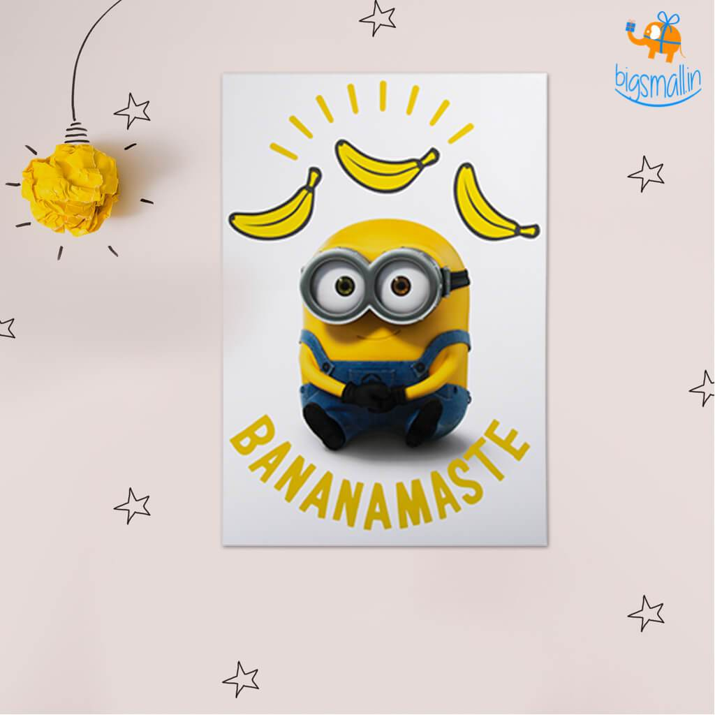 Official Minions Poster with Snowing Effect