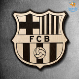 Barcelona Engraved Wooden Crest