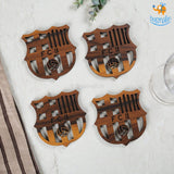 Barcelona Laser Cut Wooden Coasters - Set of 4 - bigsmall.in