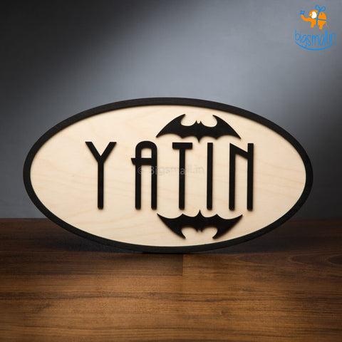 Personalized Batman Themed Nameplate | COD not available