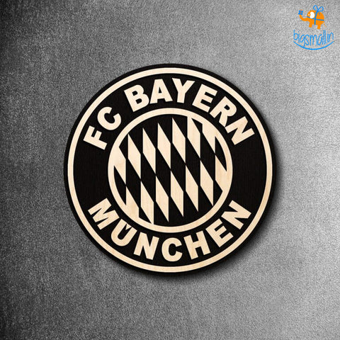 FC Bayern Munich Engraved Wooden Crest