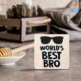 Best Brother Wooden Coasters