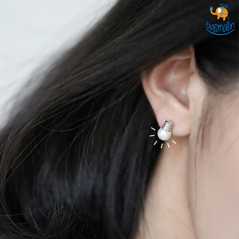 Bulb Shaped Ear Studs - bigsmall.in