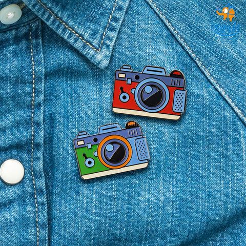 Camera Metallic Lapel Pin