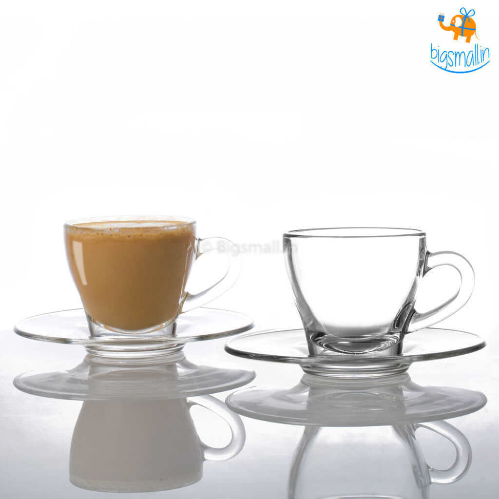 Cappuccino Cups with Saucers - Set of 2