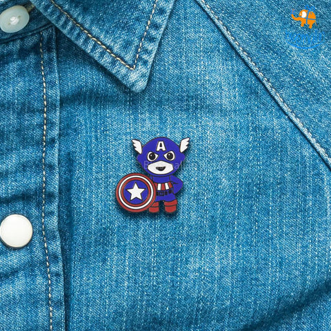 Captain America Metallic Lapel Pin - bigsmall.in