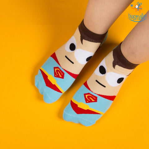 Superman Cartoon Socks