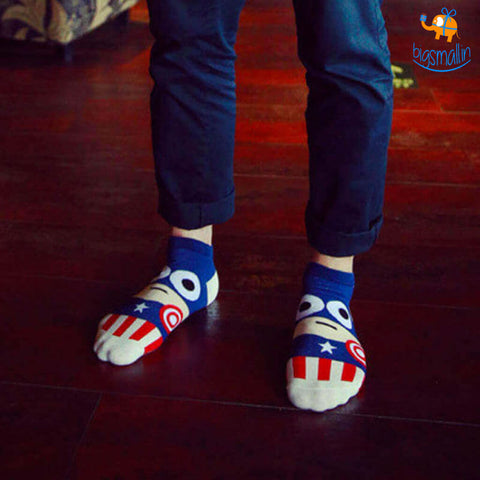 Captain America Cartoon Socks - bigsmall.in