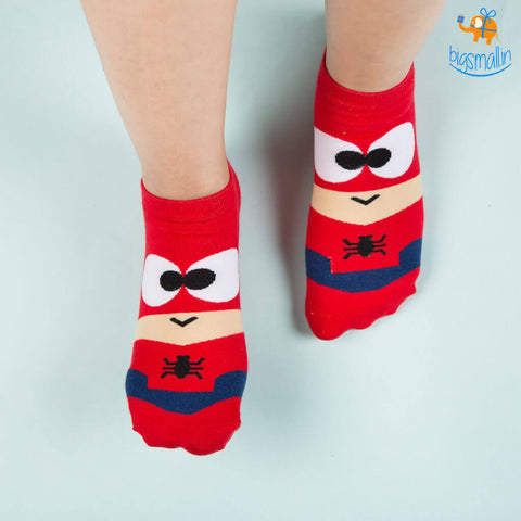 Spiderman Cartoon Socks