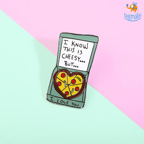 Cheesy Love Lapel Pin - bigsmall.in
