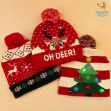 Christmas Cap With LED Lights - bigsmall.in