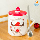 Christmas Mug With Lid & Spoon - bigsmall.in