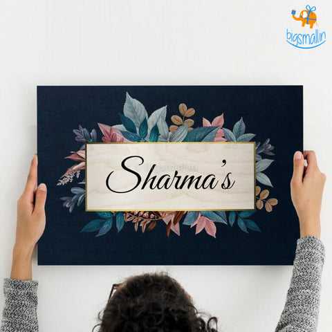 Personalized Blue Floral Name Plate | COD not available