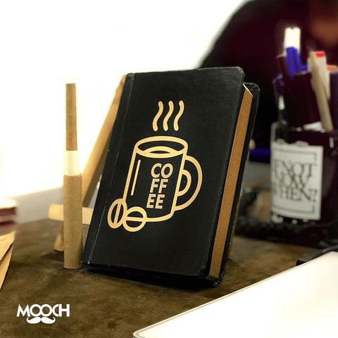 Coffee Notebook With Elastic - bigsmall.in