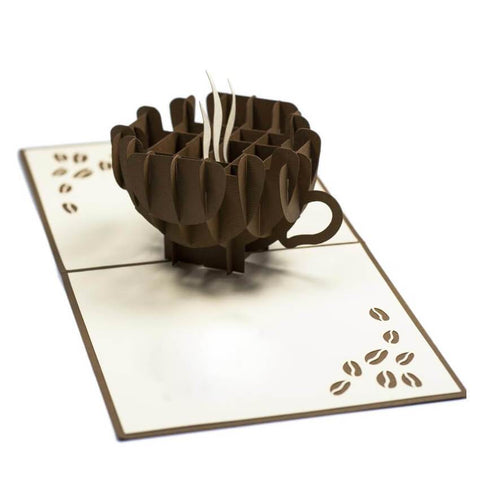 Coffee Pop up Card - bigsmall.in
