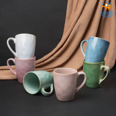Pastel Coffee Mugs - Set of 6