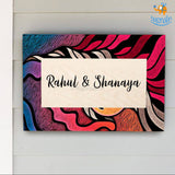 Personalized Abstract Name Plate | COD not available