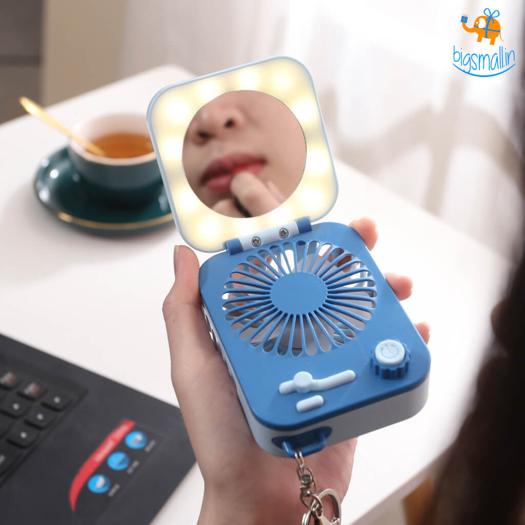 Makeup Mirror With LED & Fan