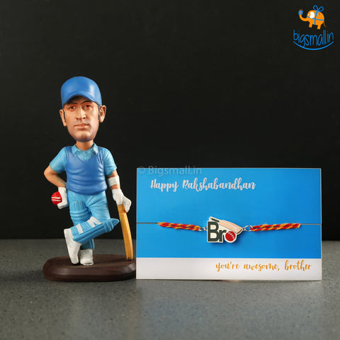 Cricket Rakhi Gift Set