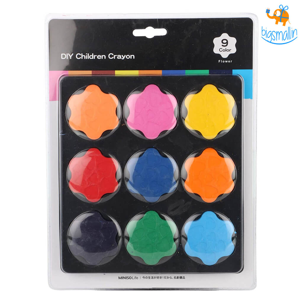 Flower Shaped DIY Children Crayons - Set of 9 Colors
