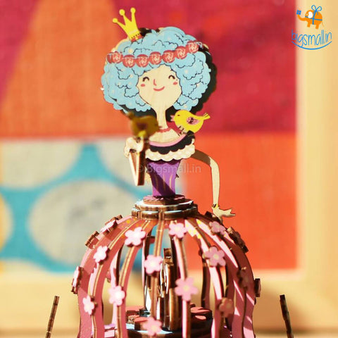 DIY Music Box Wooden Puzzle - Princess - bigsmall.in