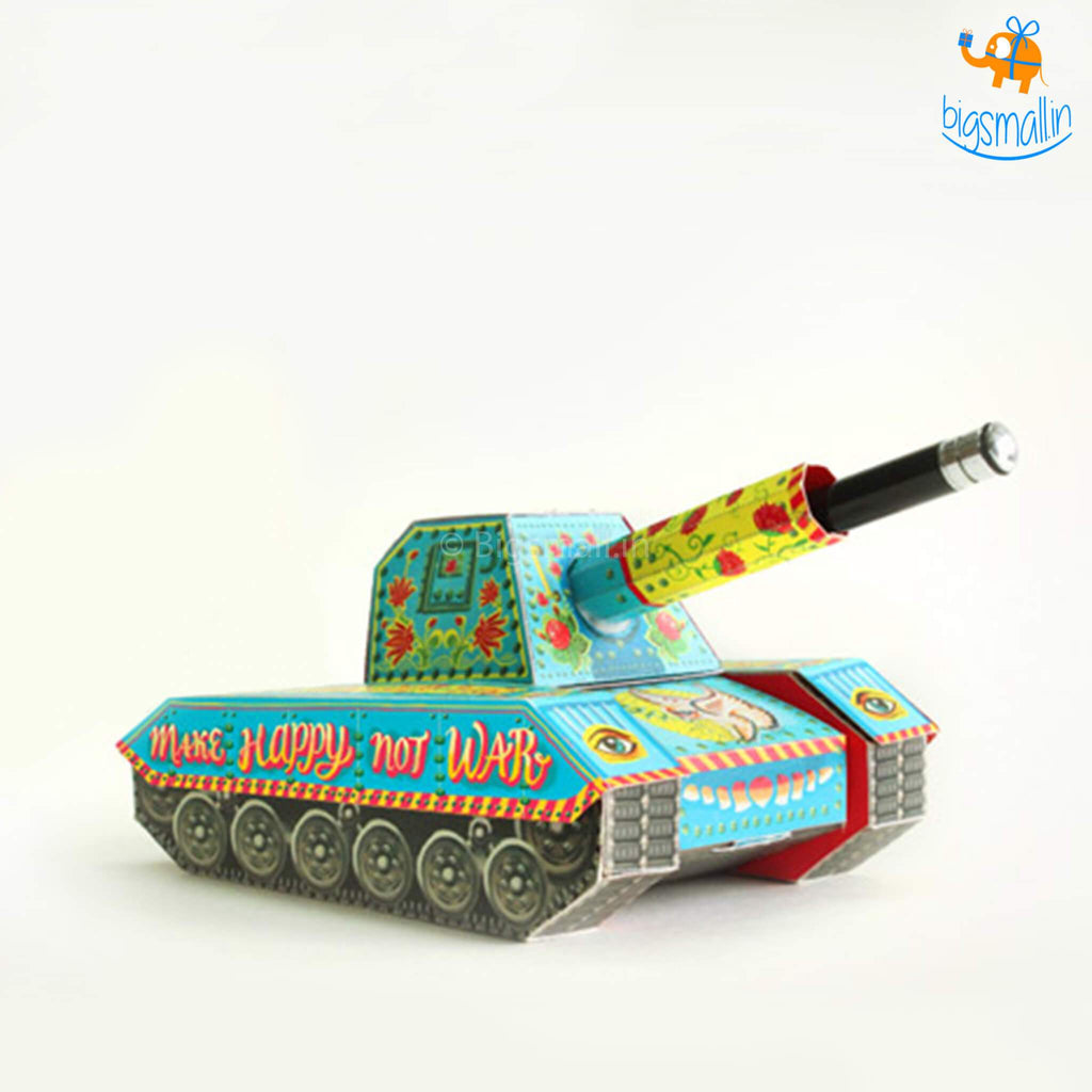 DIY Colorful Tank Pen Holder