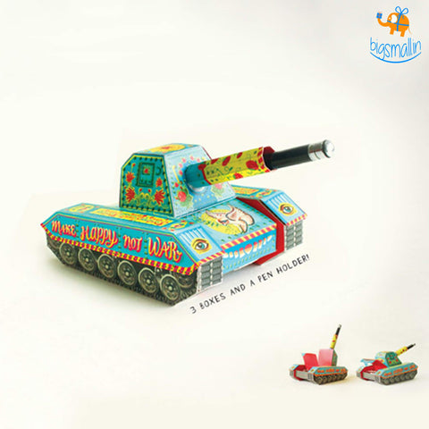 DIY Colorful Tank Pen Holder - bigsmall.in
