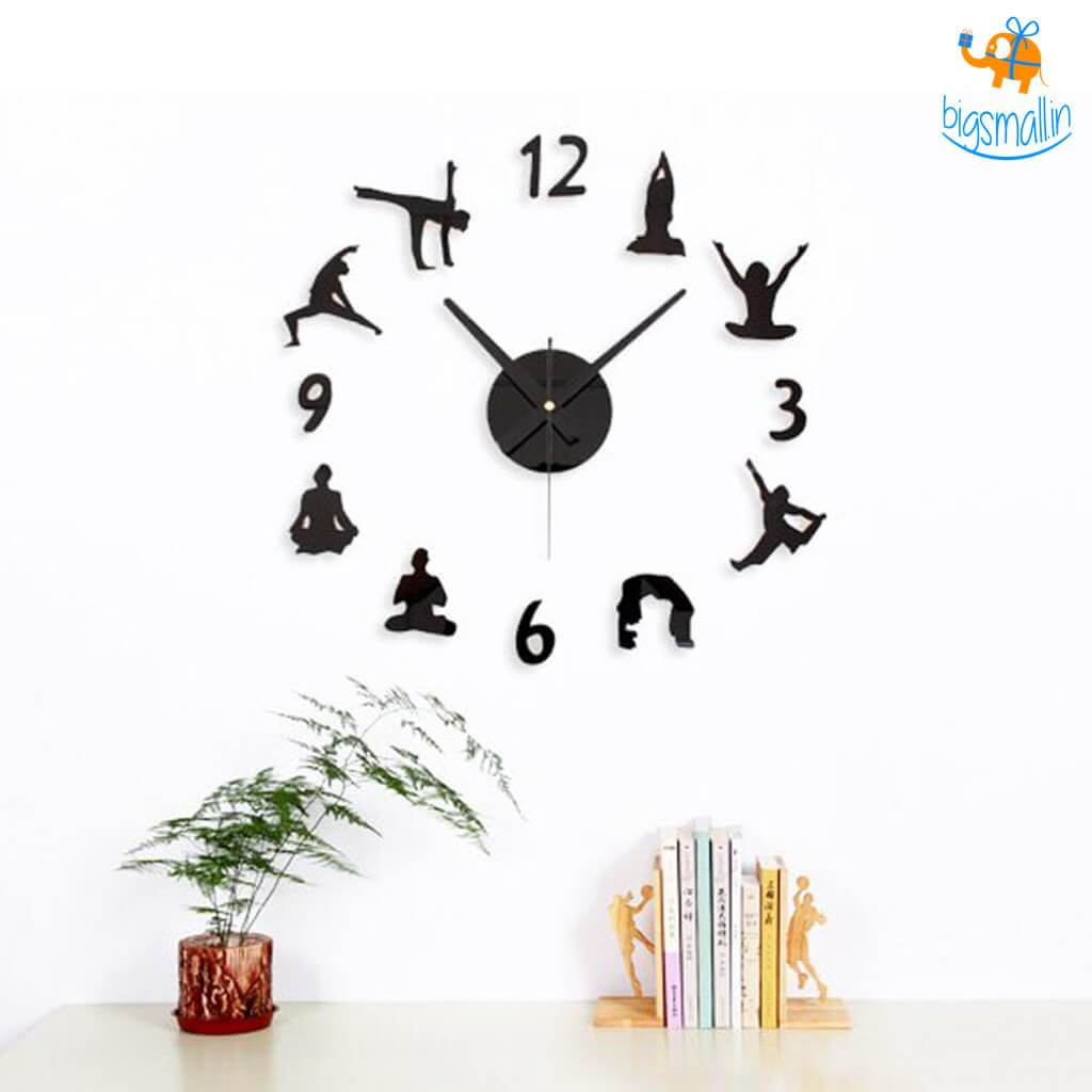 DIY Yoga Clock - bigsmall.in