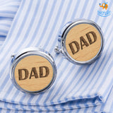 Dad Wooden Cufflinks