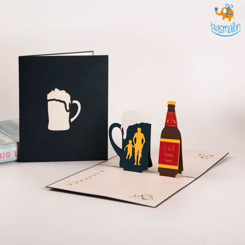 Daddy Beer Pop up Card - bigsmall.in
