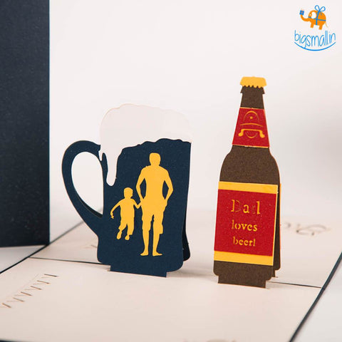 Daddy Beer Pop up Card