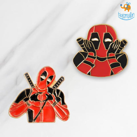 Deadpool Metallic Lapel Pins - bigsmall.in