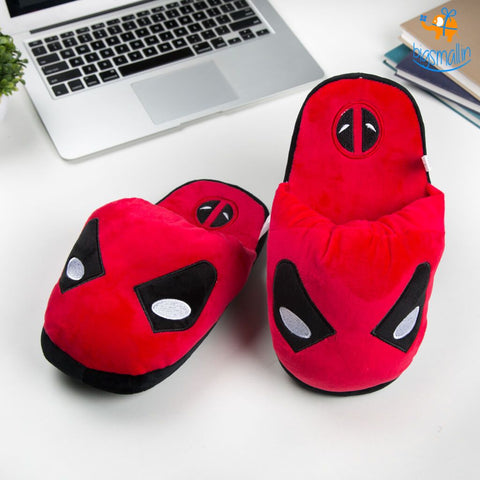 Deadpool Plush Slippers (UK Size 3 - 7) - bigsmall.in